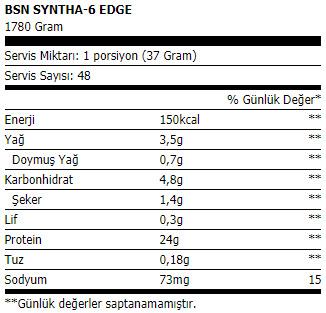 bsn syntha-6 edge protein tozu 1780 gr