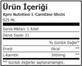 Xpro L-Carnitine Shots 3000 Mg1