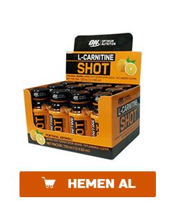 optimum l-carnitine shots 12 adet